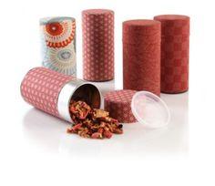 Red Tea Tins