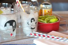 Game Day Party DIY: Dressed Up Solo Cups via Camille Styles