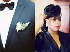 love how this bride wore her natural hair for her wedding it was timeless….  photographer:to love photographie