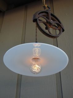 Very cool upcycled light fixture