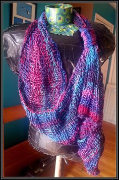 Pattern Loose Infinity Scarf - Knitted Version