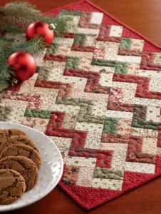 Free Quilt Pattern: Little ZZ Christmas Placemat - I Sew Free