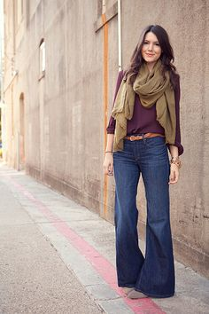 blouses & wide leg jeans (but only with wedges).