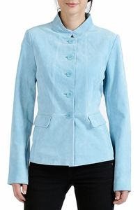 Look classy with this Blue BGSD Women's Suede #Leather Jacket. This looks so sophisticated with black pants or a skirt.  The suede jacket looks so slimming and yet it is so warm. http://www.luxurylane.com/415-129843-blu.html