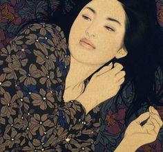 ikenagayasunari, japanese art, art photography, japanese design, paint, yasunari ikenaga, portraits, ikenaga yasunari, illustr