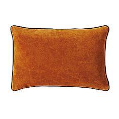 Equestrian suede pillow.