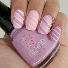 pastels, purple, pink nails, colors, candies, white, nail arts, violets, stripes