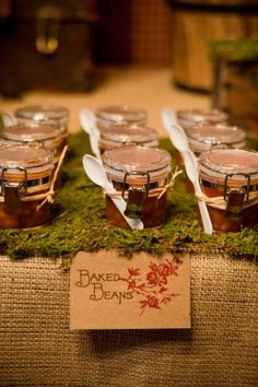or for chili or soups...love the idea of the LumberJack & Jill couples shower!