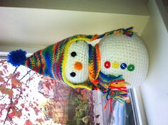 Happy Little Snowman- Sorry for the repin. This is a better photo.   #crochet #amigurumi