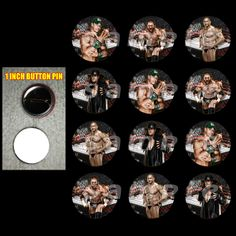 """WWE 1"""" BUTTONS party favors"""