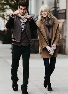 Emma Stone and Andrew Garfield  I have a girl crush on her and an actual crush on him. It is my opinion that my BF looks like him. heee hee!