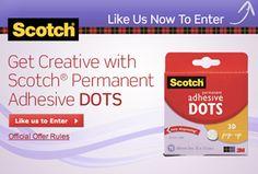 FREE Scotch Permanent Adhesive Dots Sample