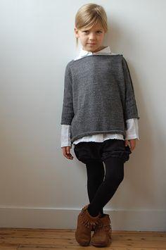 shrunken sweater and oversized shirt