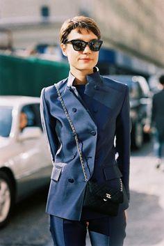 love that navy suit. #KoncaAykan in NYC.