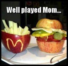 mom tricks healthy alternatives, healthy snacks, healthy choices, eat healthy, future kids, healthy lunches, meal, appl, fast foods