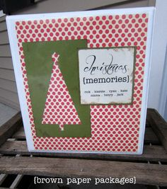 {christmas memories binder}  I wish I would have started this YEARS ago!  What a great memory keeper!