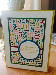 Simple mens birthday card Greeting card by Viviansgreetings, $4.00