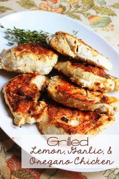 Grilled Lemon, Garlic,  Oregano Chicken