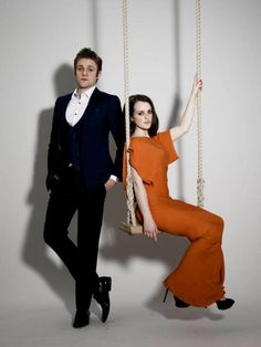 Sophie McShera who plays Daisy and Thomas Howes who plays William.