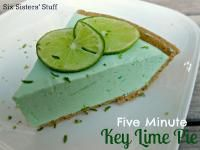 Six Sisters 5-Minute Creamy Key Lime Pie. Dessert in a matter of minutes! #sixsistersstuff