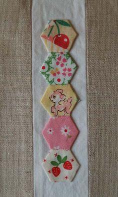 bookmark, pattern, hexagon