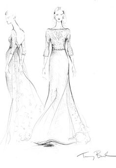 Designers Sketch Their Suggestions for Kate Middleton's Wedding Dress - Slideshow