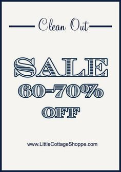 We are having a Winter sale http://www.littlecottageshoppe.com/