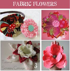A Roundup of 16 Fabric Flower Tutorials