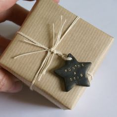 "Gift tags - A really helpful guide from ARTMIND blog on ""How to use a metal letter stamp set with clay"""