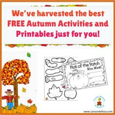 We've harvested the best FREE and FUN Autumn Activities and Printables just for you!