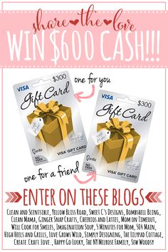 Share the Love Giveaway via createcraftlove.com #giveaways