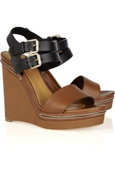 leather wedges from chloé