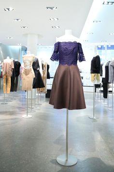 CARVEN - Brown silk dress