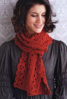 Fantasy Points Burgandy Red Scarf free crochet graph pattern