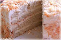 Coconut Layer Cake with a Swiss Buttercream Frosting