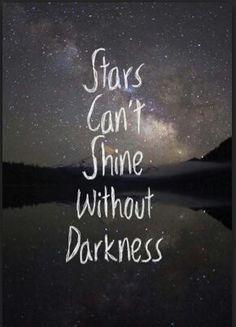 Stars, darkness, quote, night time, time to shine