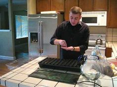 Planting Milkweed Seeds - Part 1 - YouTube