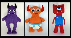Ravelry: Hungry Monsters Project pattern by Katie Boyette #knitting