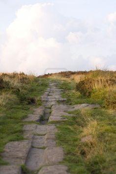 Roman Road on Harden Moor, West Yorkshire