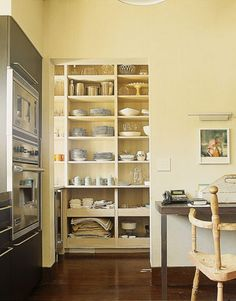 well styled kitchen pantry