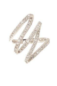 diamond zig zag ring <3