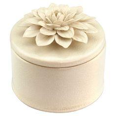 Large Lille Trinket Box I in Ivory