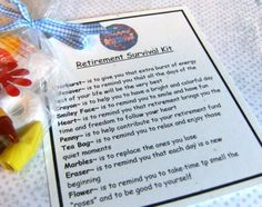 Humorous Survival Kits | Retirement Survival Kit - Great Gift for a Co-Worker or Parent