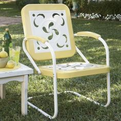 Buttercup lawn chair.