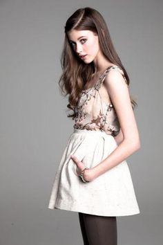 So cute. white full skirt