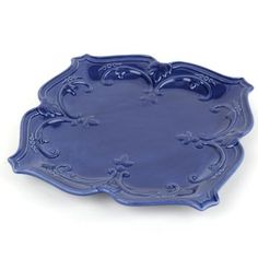 Blue Sweet Olive Dinner Plate #kirklands #FrenchCountryDining #dinnerplate