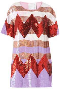 Zigzag Sequin Dress By Louise Gray for topshop