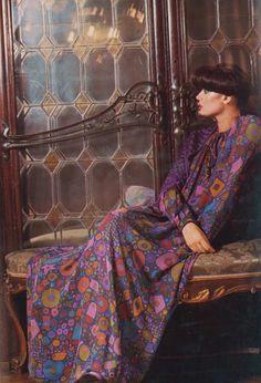 Gorgeous colour. Gorgeous Hair.   Vogue Italia, October 1973 by Barry Lategan