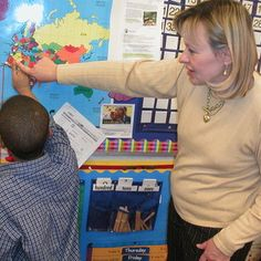 Elementary and middle school students in a Reach the World (RTW) project in New York City learn geography and how it relates to learning.