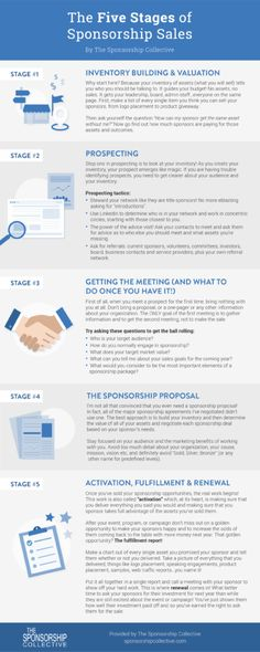 The Five Stages of Sponsorship Sales
